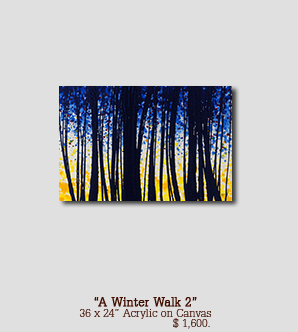 A Winter Walk size 36w x 24h