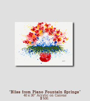 Original Painting Bliss from Piano Fountain Springs