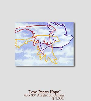 Love PeaceHope size 40w x 30h