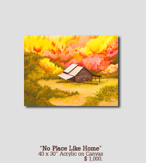 No Place Like Home size 40w x 30h