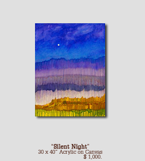 Silent Night size 30w x 40h