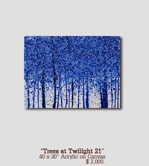 Trees at Twilight 21 size 40w x 30h