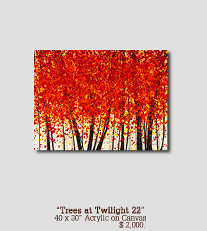 Trees at Twilight 22 size 40w x 30h